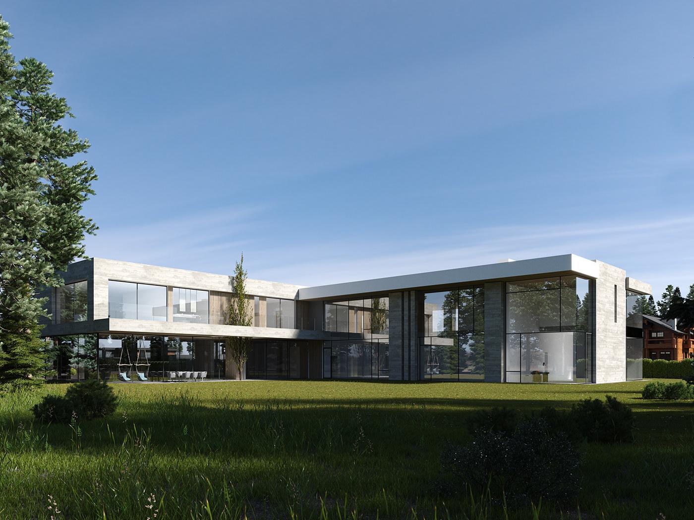 3ds max architecture archviz CGI corona render  design exterior visualization