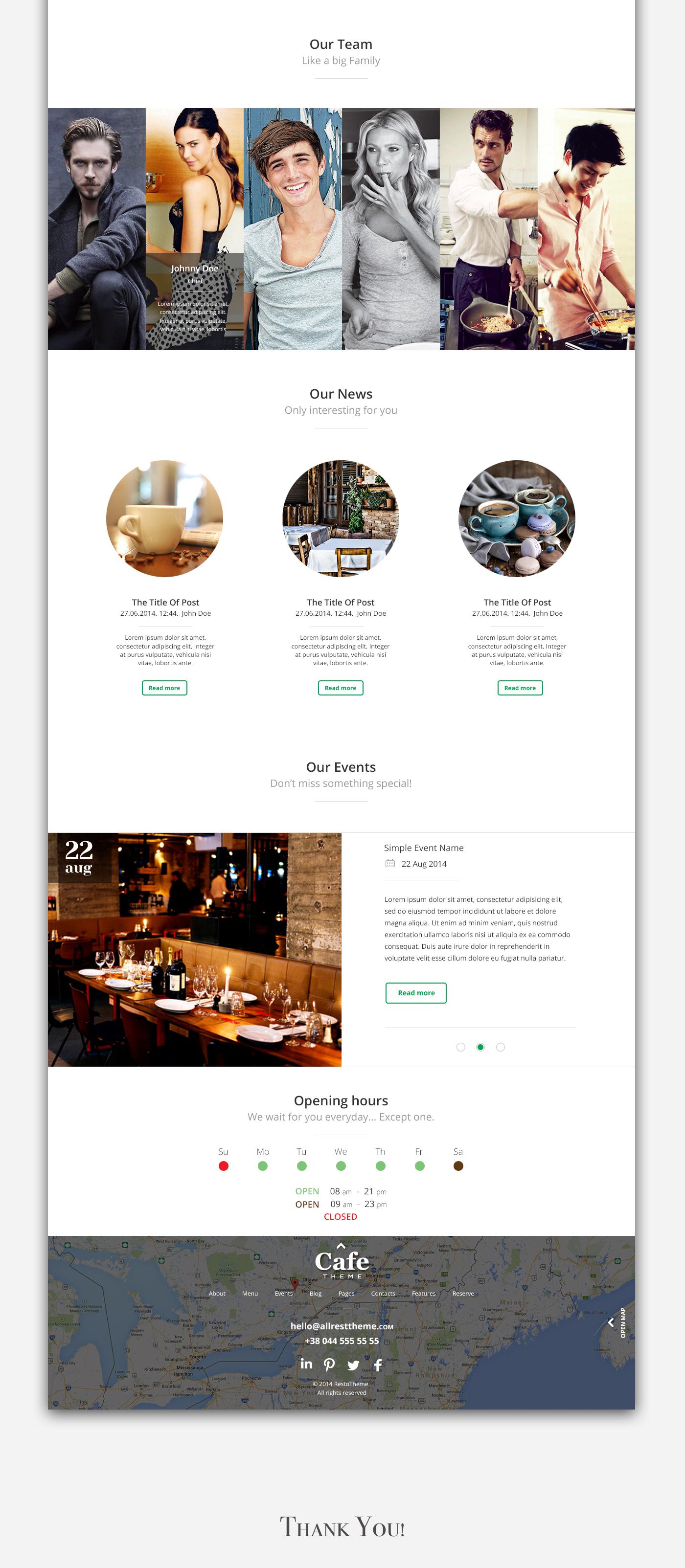 bar Blog cafe Food  HORECA landing reservation restaurant psd menu meat fish chiken Web