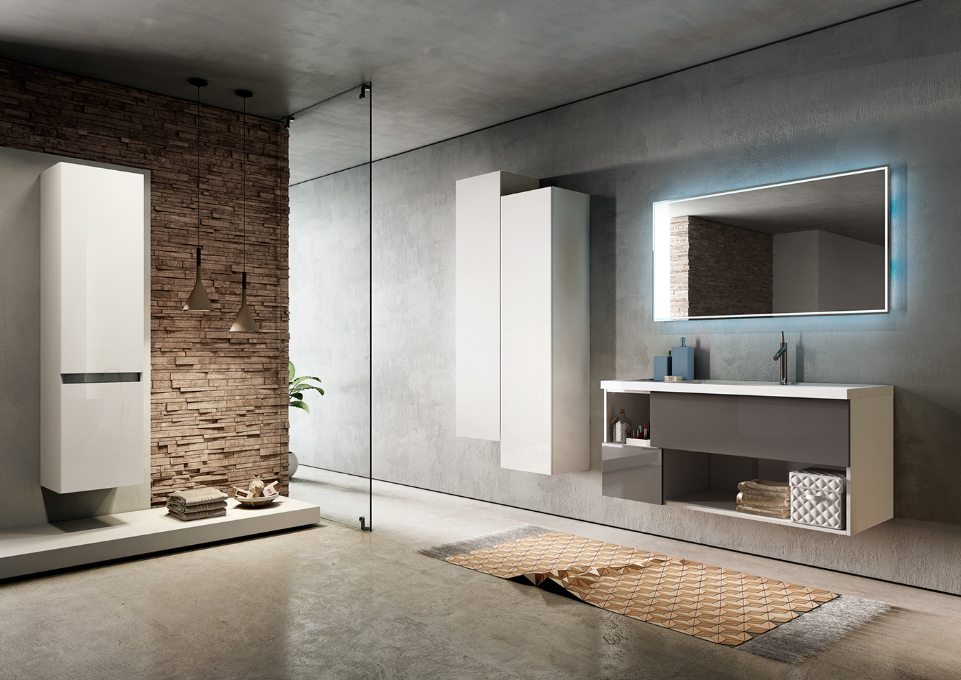 Cgi bathroom furniture malib on behance for Bathroom design 3d model