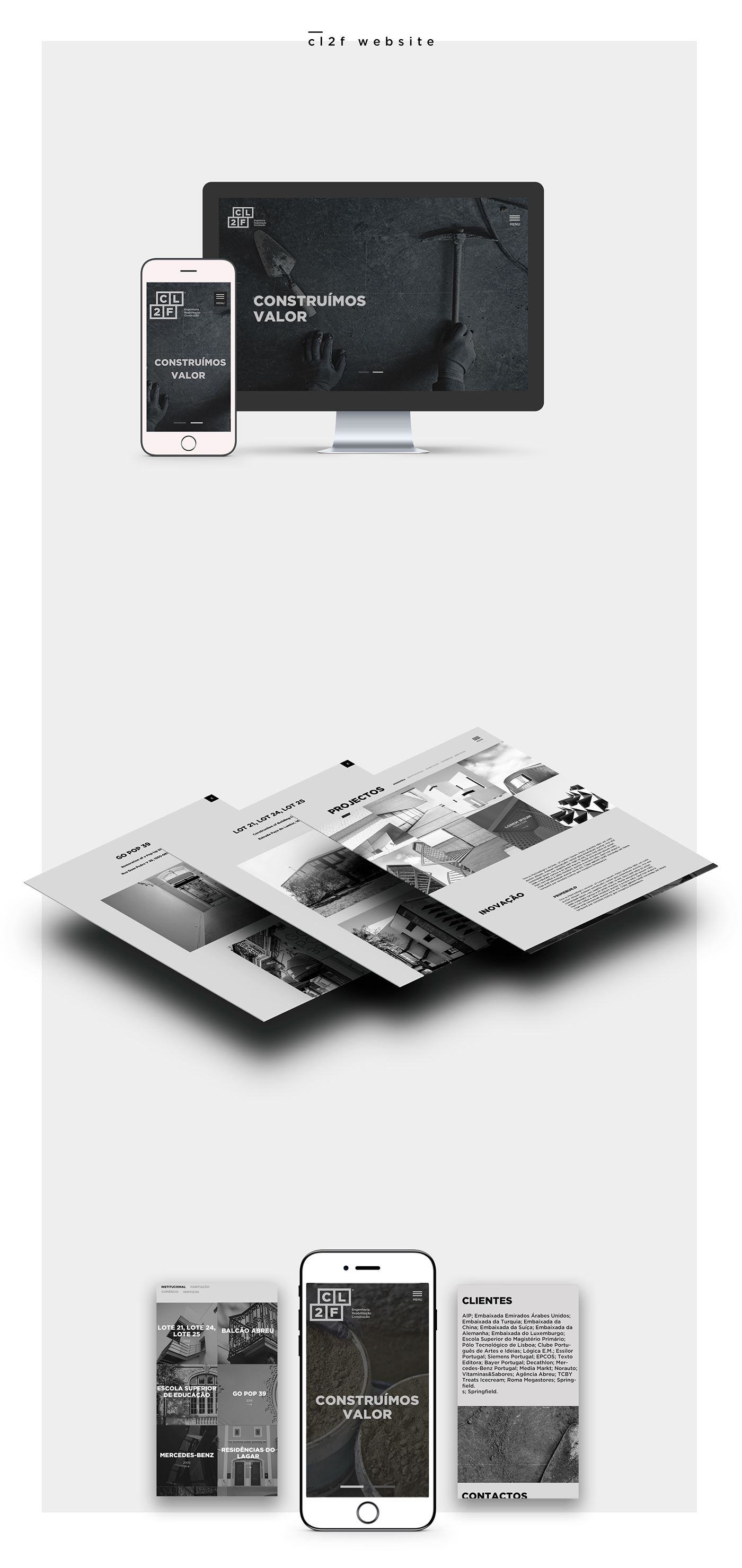 Web CL2F user interface construction Website Responsive Design