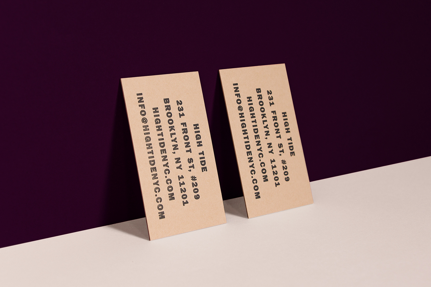 High Tide Business Cards on Behance