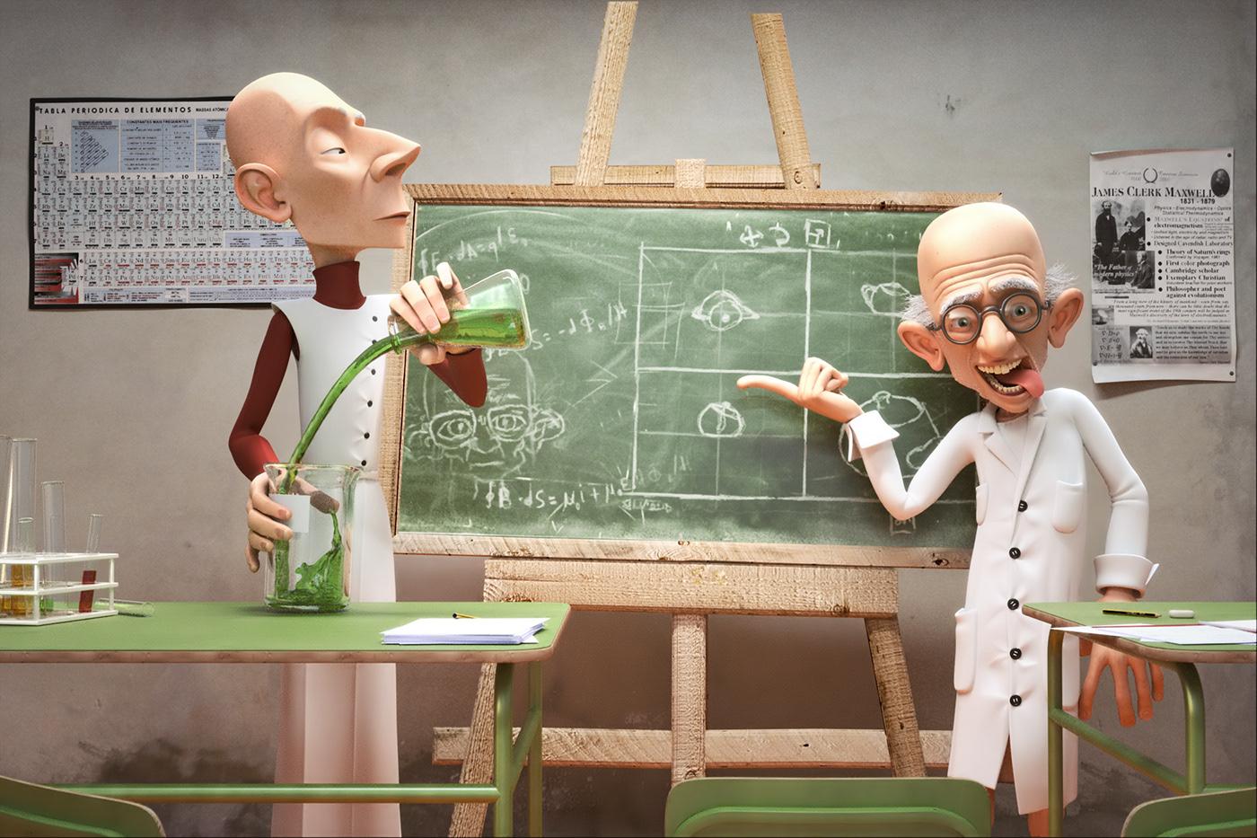Dr Maxwell short film jonatan catalan Maxwell 3D