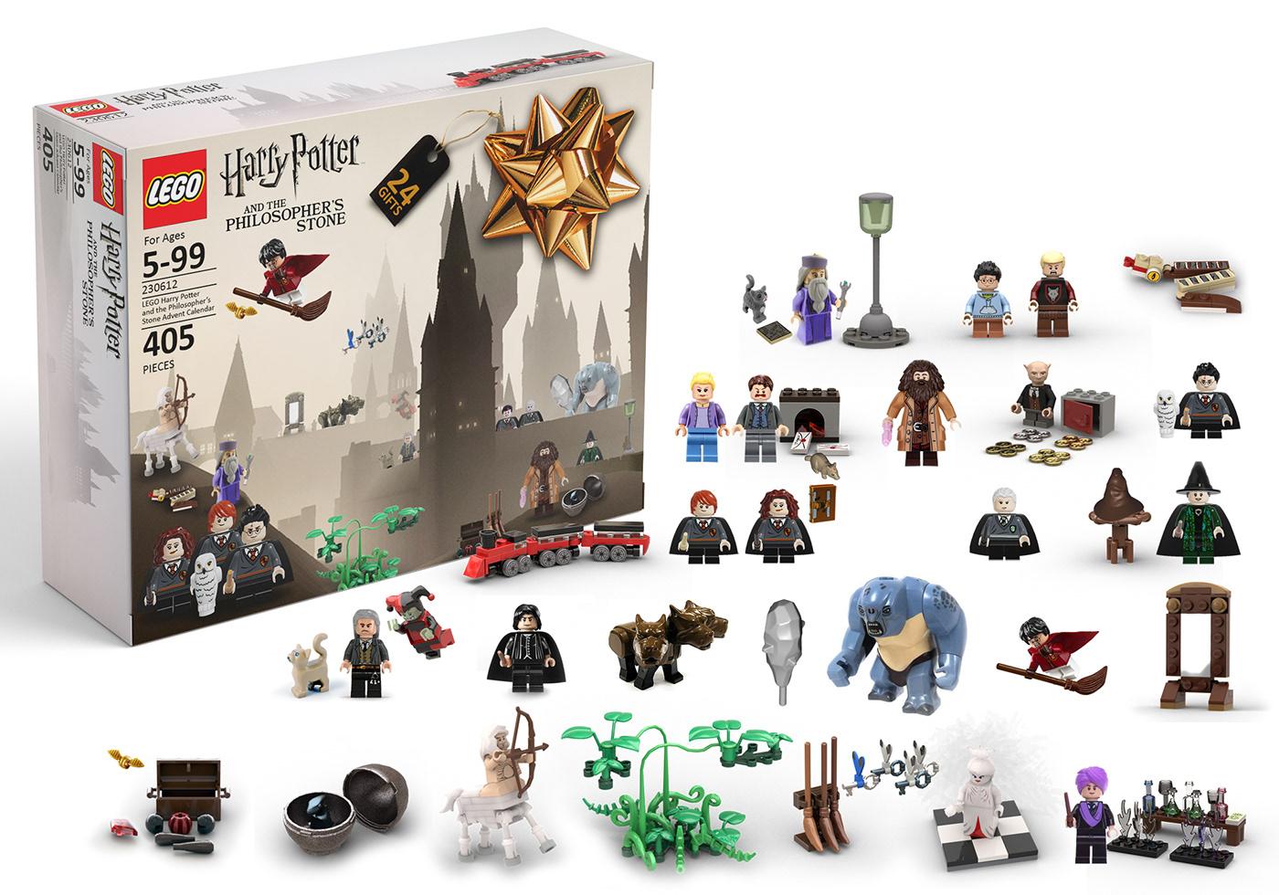 concept fun lego harry potter advent calendar on behance. Black Bedroom Furniture Sets. Home Design Ideas
