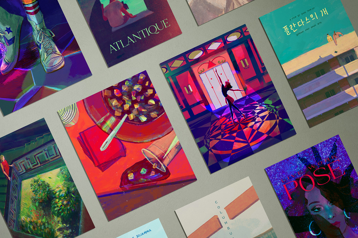 animation  film poster ILLUSTRATION  movie poster posters Procreate animated illustration gif