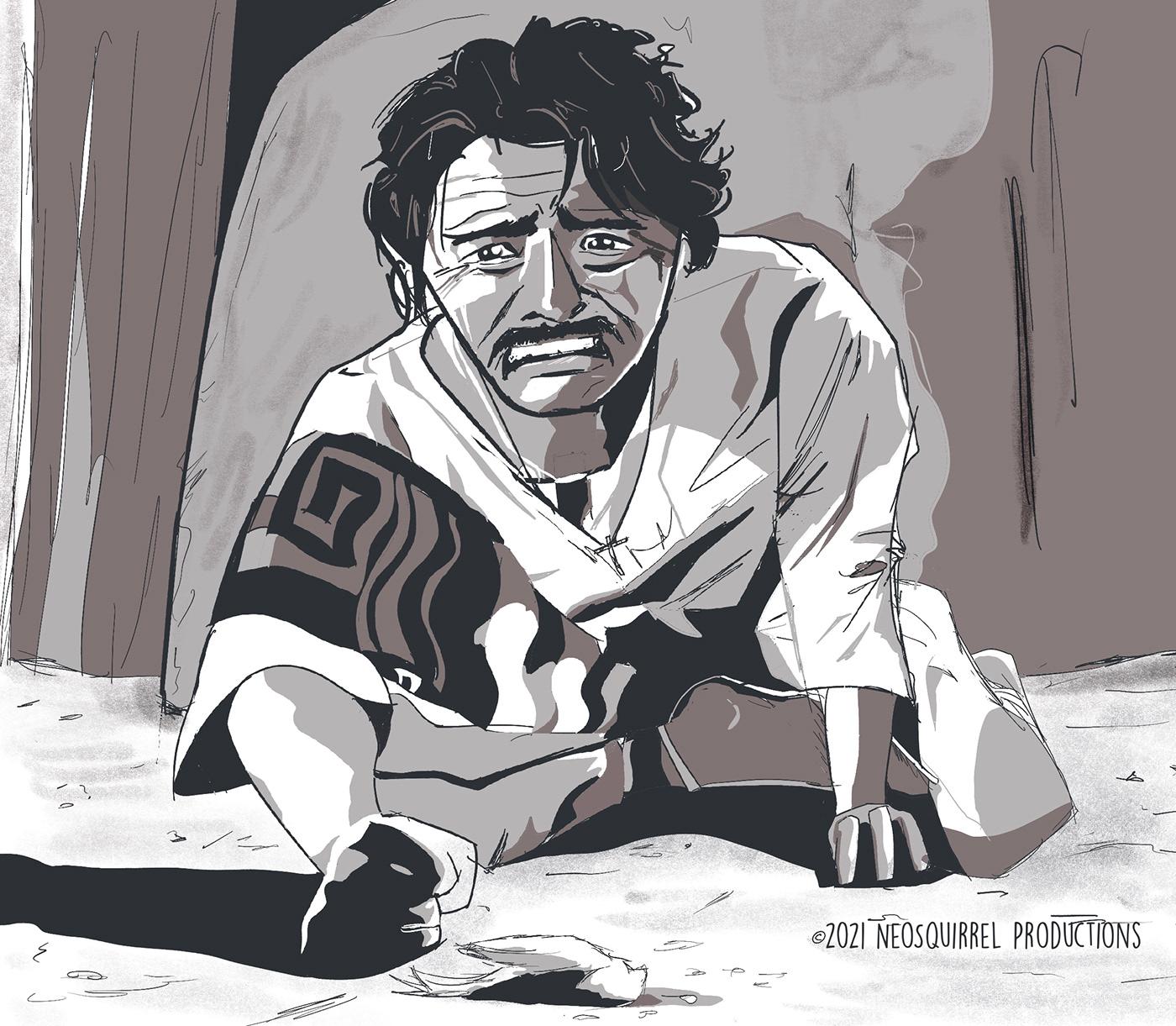 caricature   Cinema Digital Drawing drama Film   Mexican Mexican Cinema movie toshiro mifune