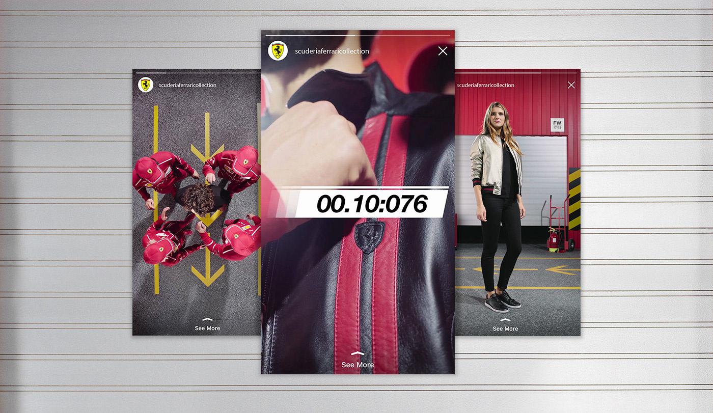 FERRARI Fashion  Instagram Stories fast seconds models pit stop