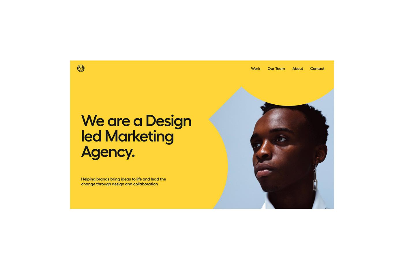 brand identity logo marketing   minimal mobile motion poster Web