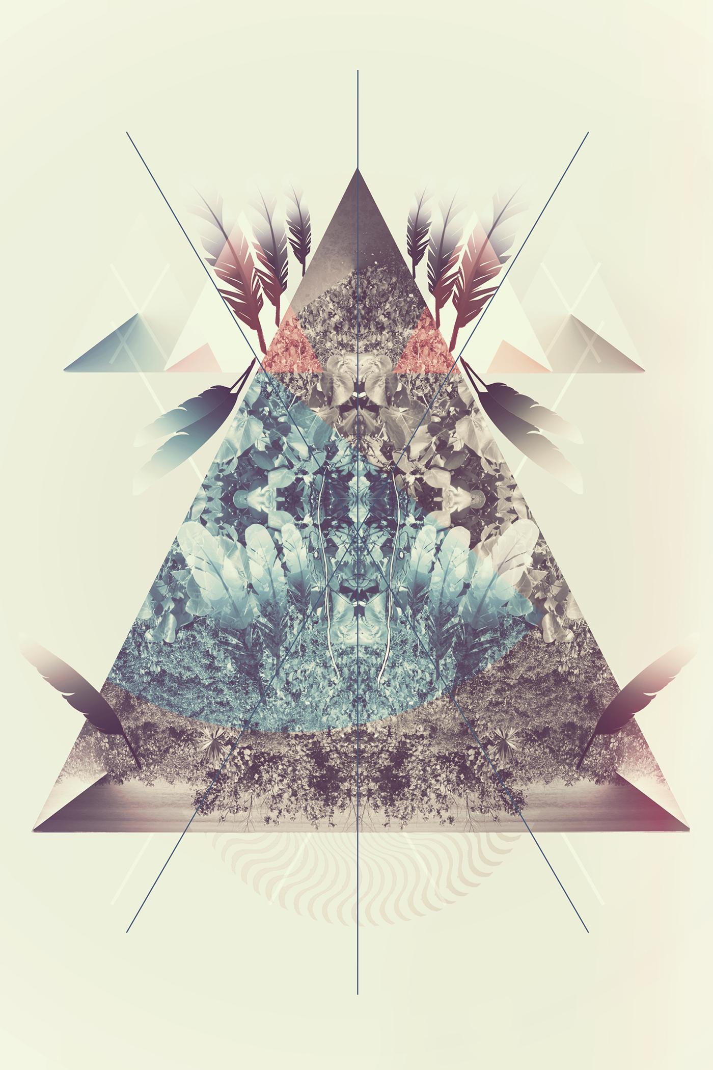 Graphic Design Triangle Art