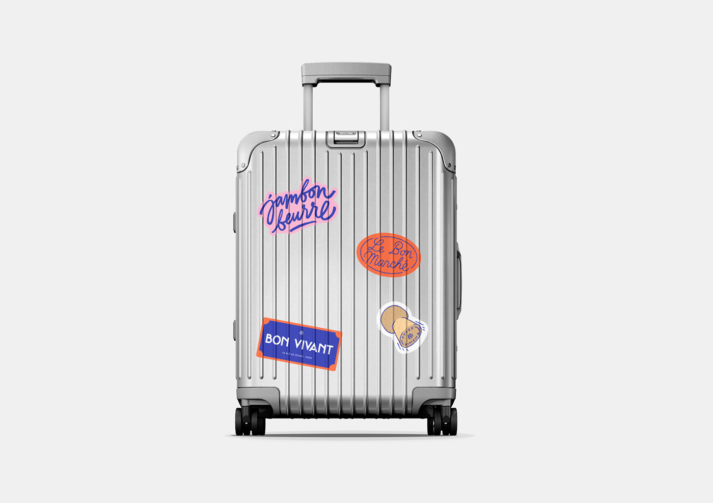 graphic design  identity ILLUSTRATION  lettering luggage rimowa  stickers typography
