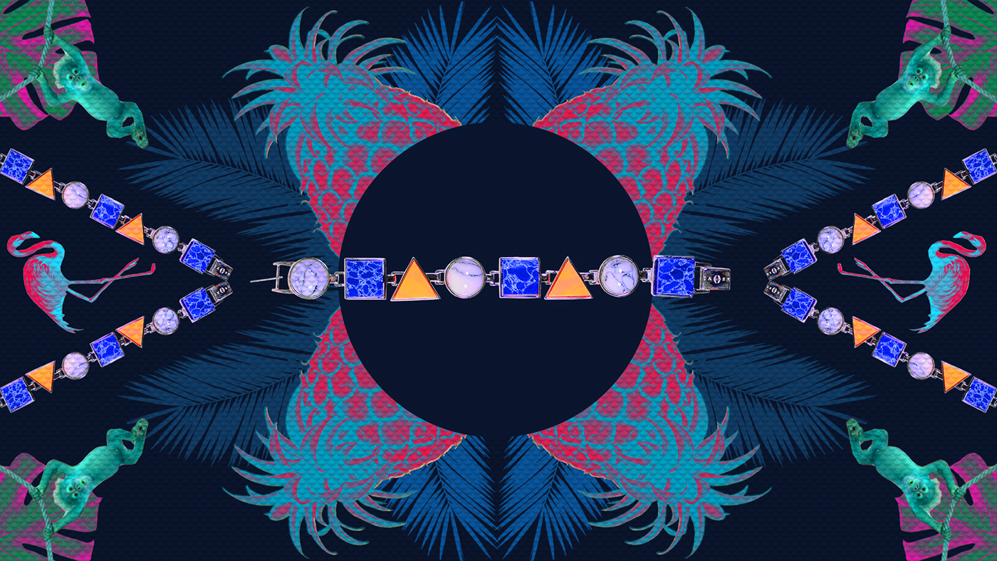 kaleidoscope colorfull floral Flowers adobe jewelry solo video graphic graphicdesign