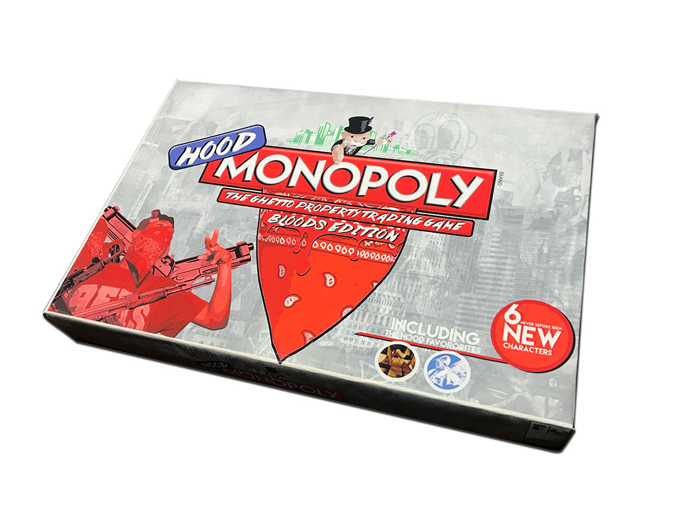 Hood Monopoly: Bloods Edition on Behance