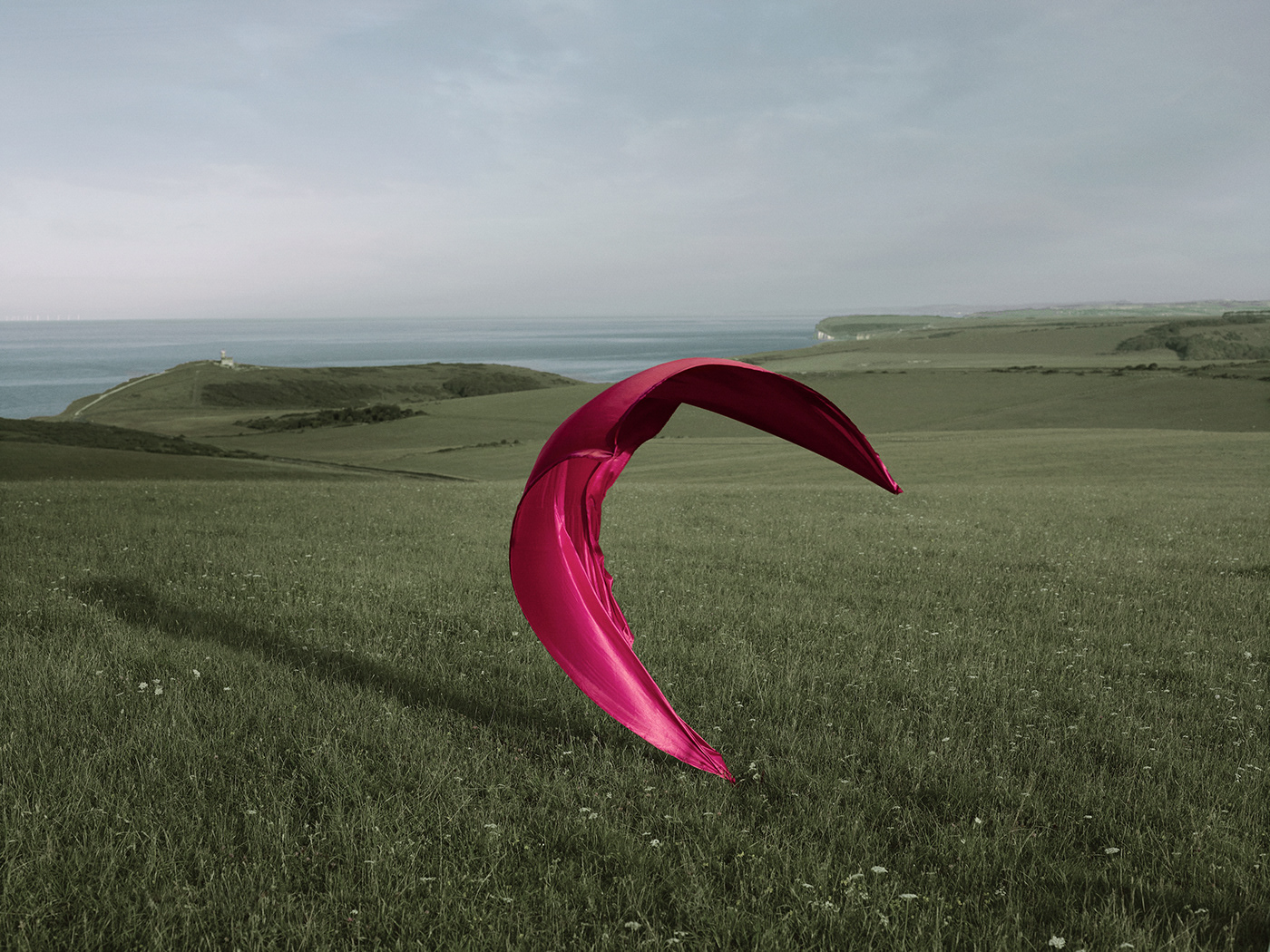 abstract color East Sussex fine art flying fabrics Landscape Moment In Time movement sculptures