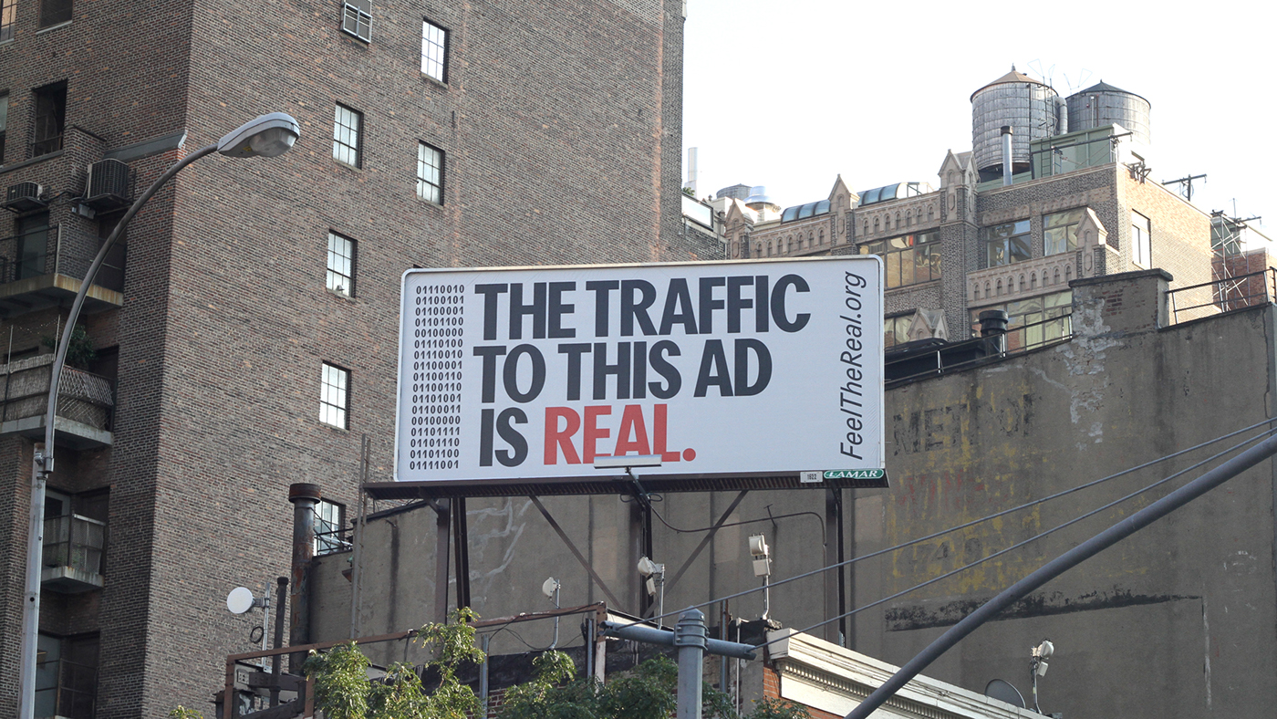 Feel The Real - advertisement design