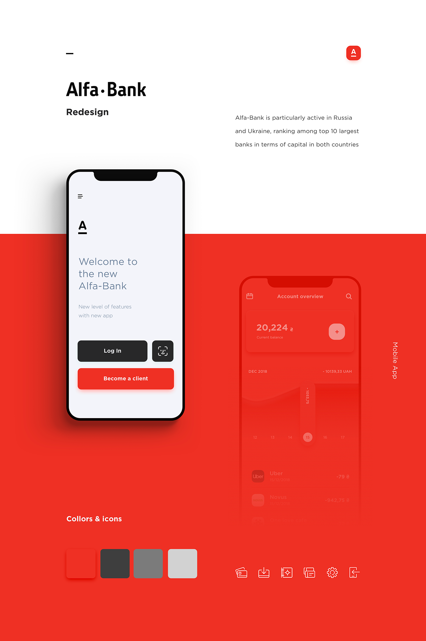 abduzeedo.com - Redesigning the Alfa Bank mobile app