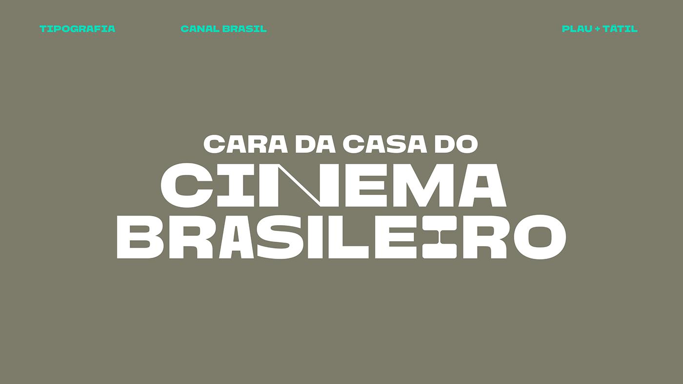 animation  Brasil broadcast Channel Custom font motion tv variable typography