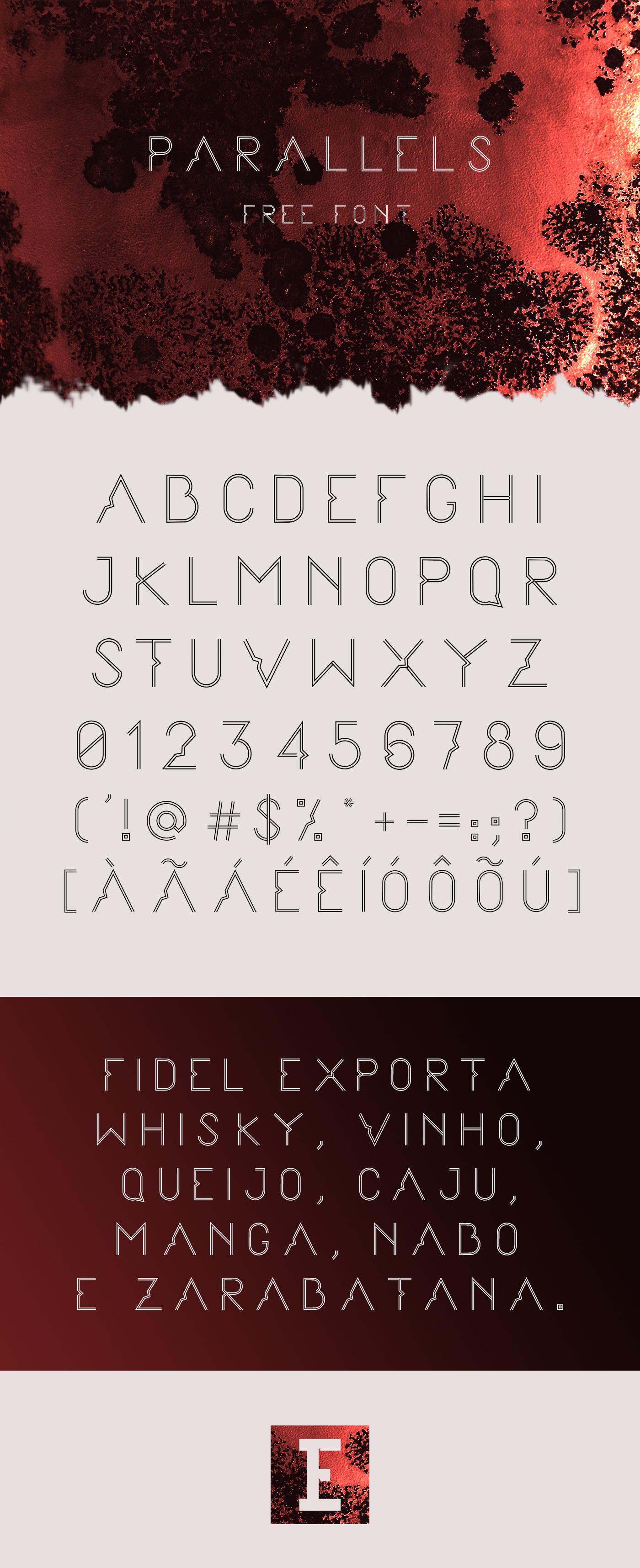 type all caps fonte tipografia letra alphabet font parallels