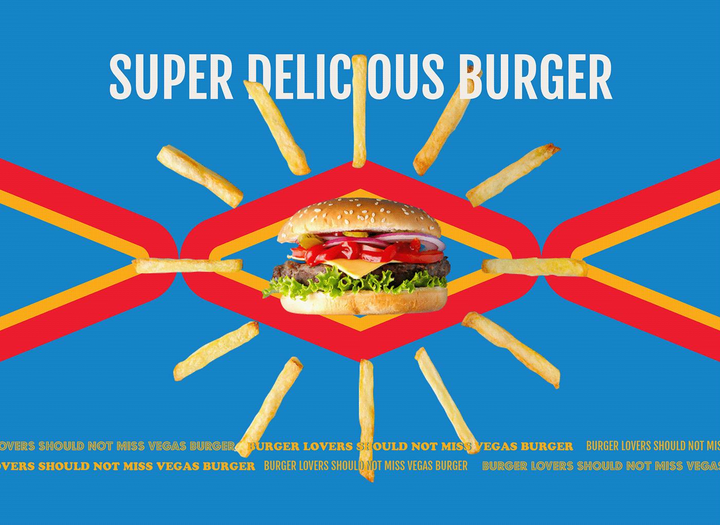 burger Fast food Food  Fries menu Packaging restaurant sandwich Vegas