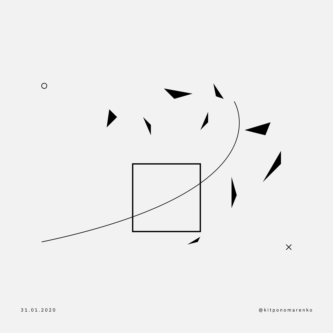 abstract artwork geometry ILLUSTRATION  Minimalism Suprematism