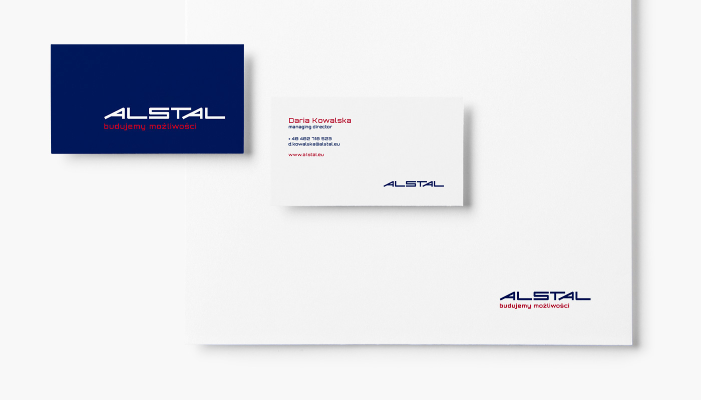 logo construction company alstal identity building