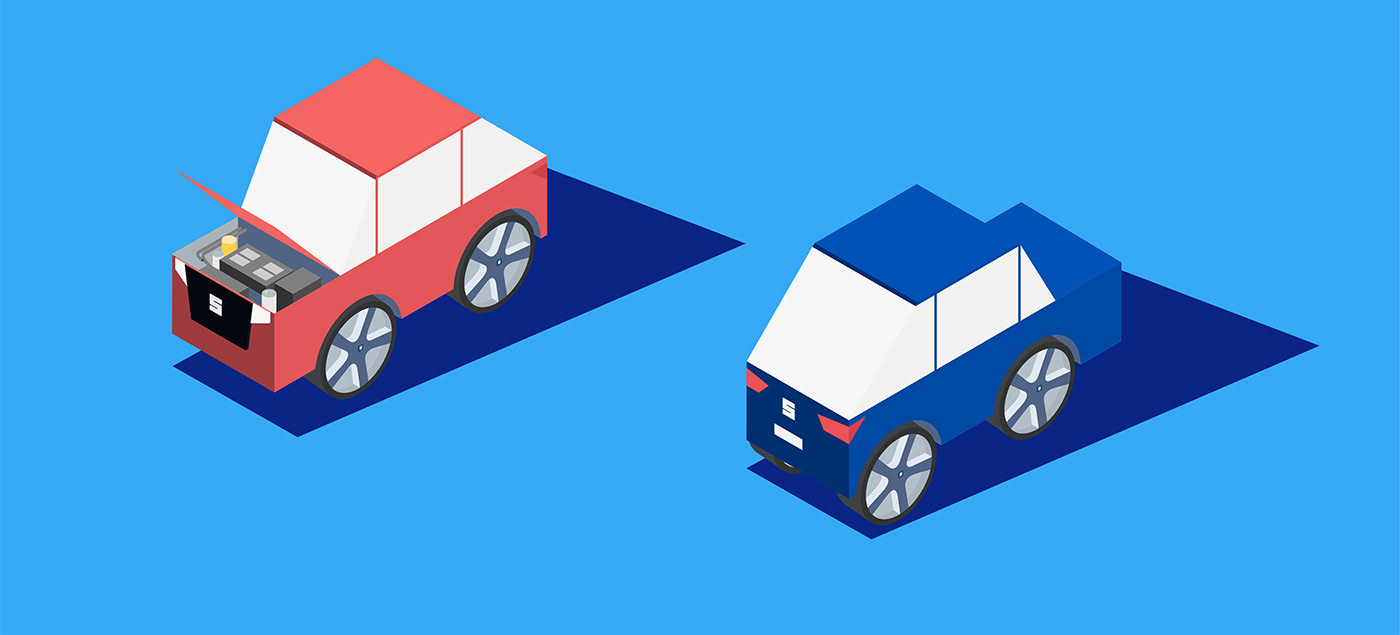 car Isometric Vector Illustration