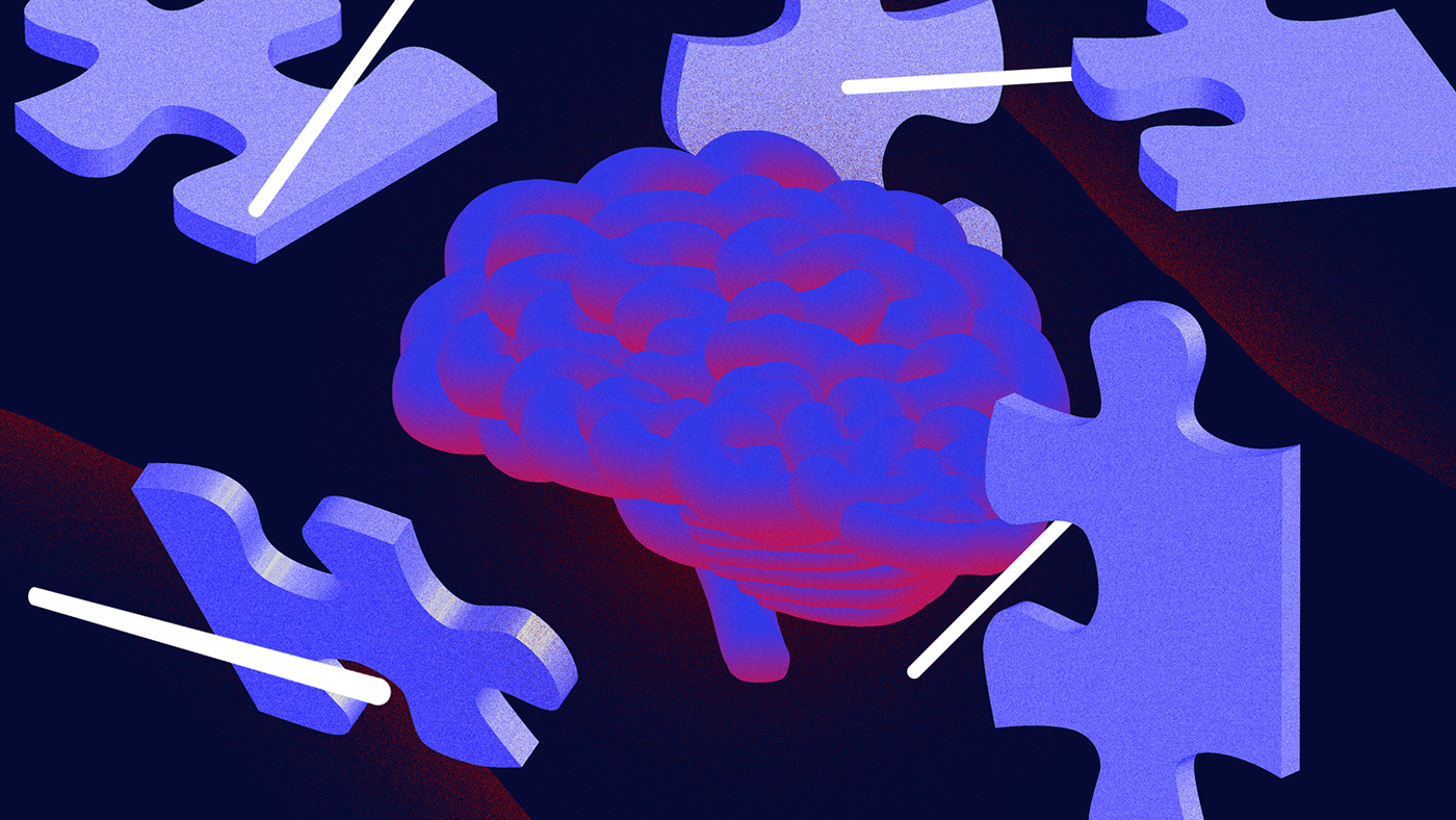 ILLUSTRATION  critical thinking brain photoshop Illustrator puzzle mysterious