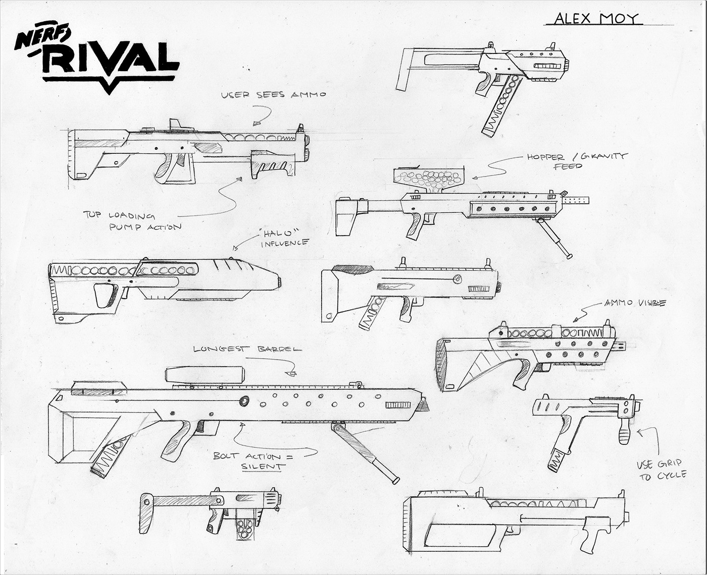 Design the newest iteration of the NERF RIVAL line