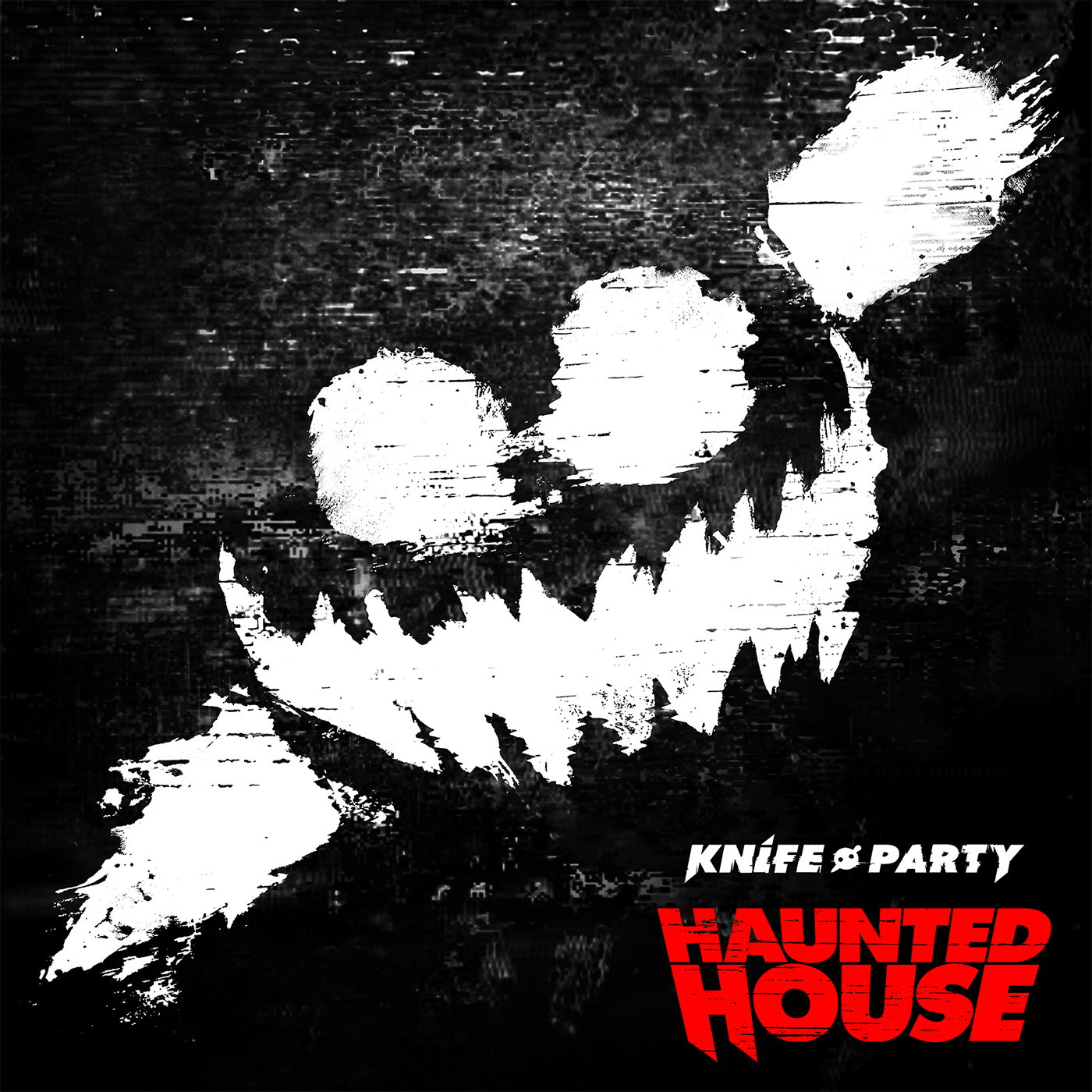 Knife party haunted house ep album cover on behance for House music cover