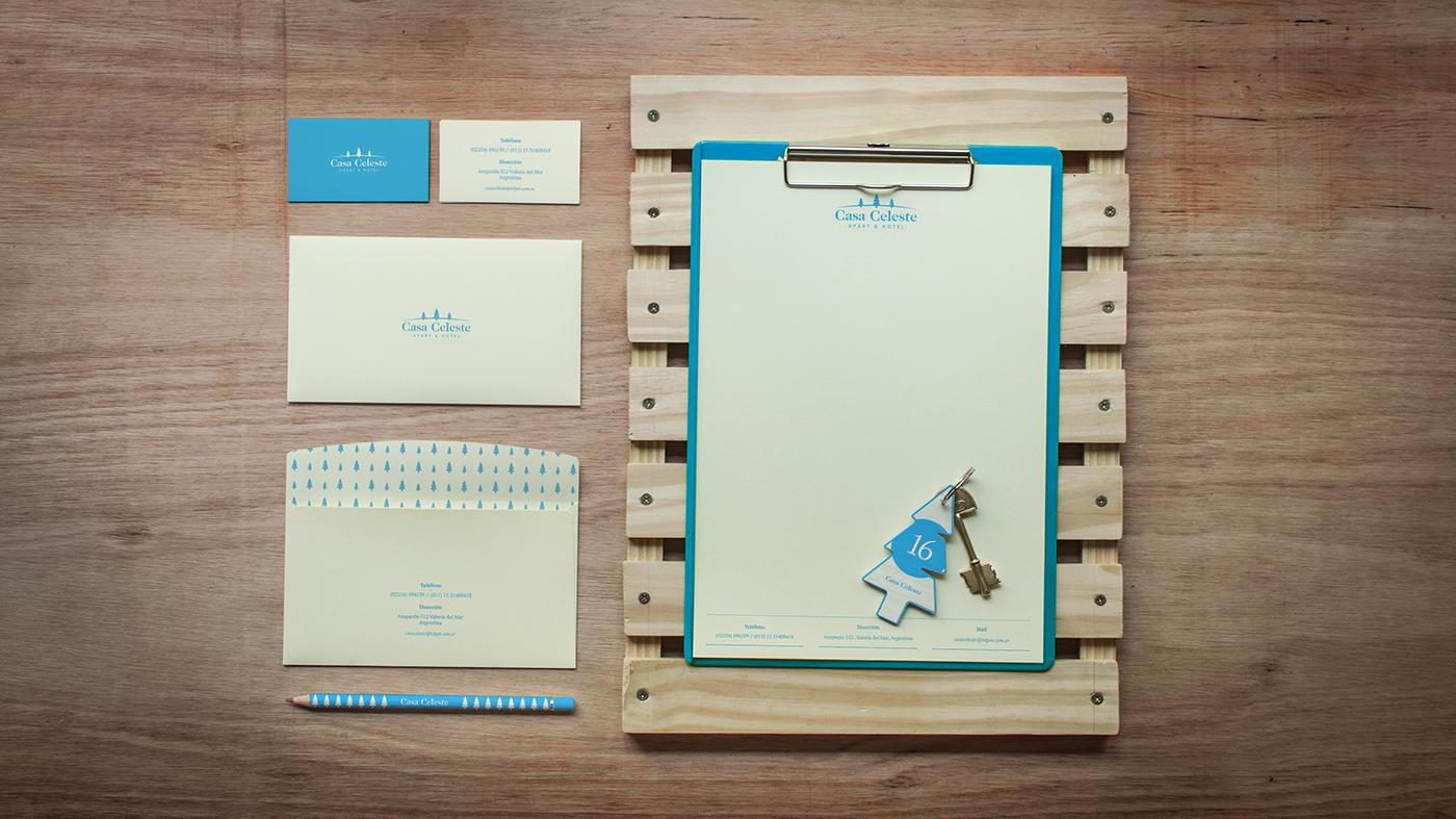 logo marca Stationery Web brand Tree  Papeleria hotel blue argentina