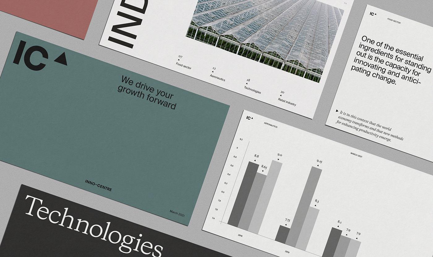 brand business corpo design ic inno-centre interactive mobile UI Web