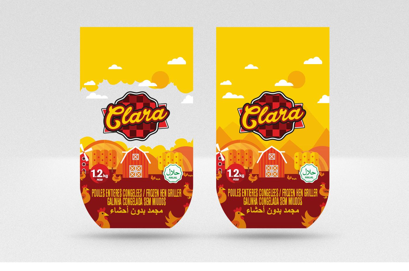 meat logo Packaging chicken