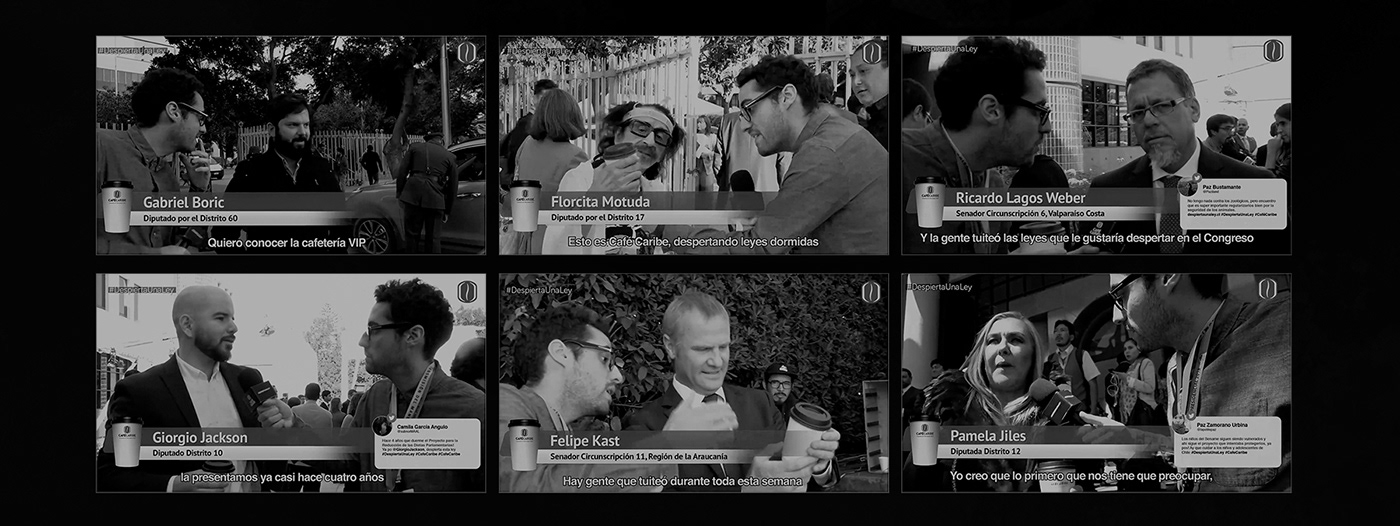 cafe Coffee ads politician congress chile photoshop Cannes lions Cannes festival