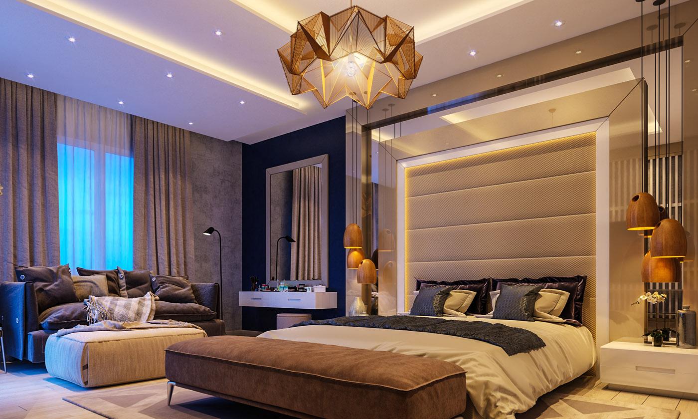Modern Master Bedroom on Behance