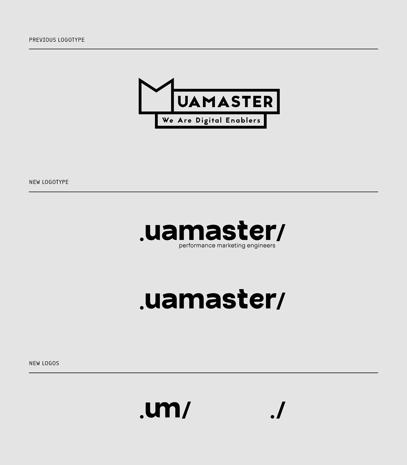 agency animation  branding  logo Logotype motion rebranding UAMASTER visual identity