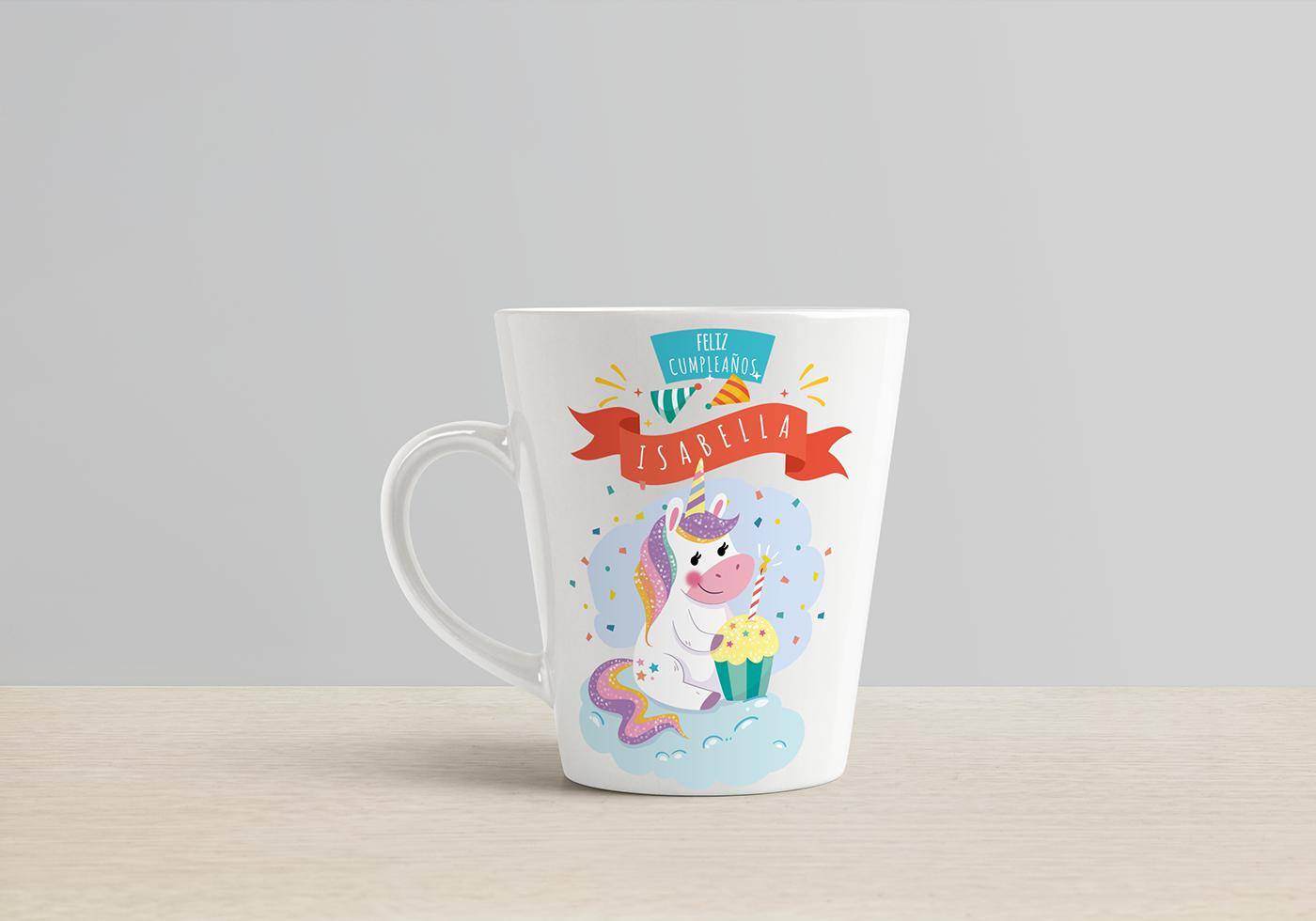happy birthda Mug  unicor unicorn cake