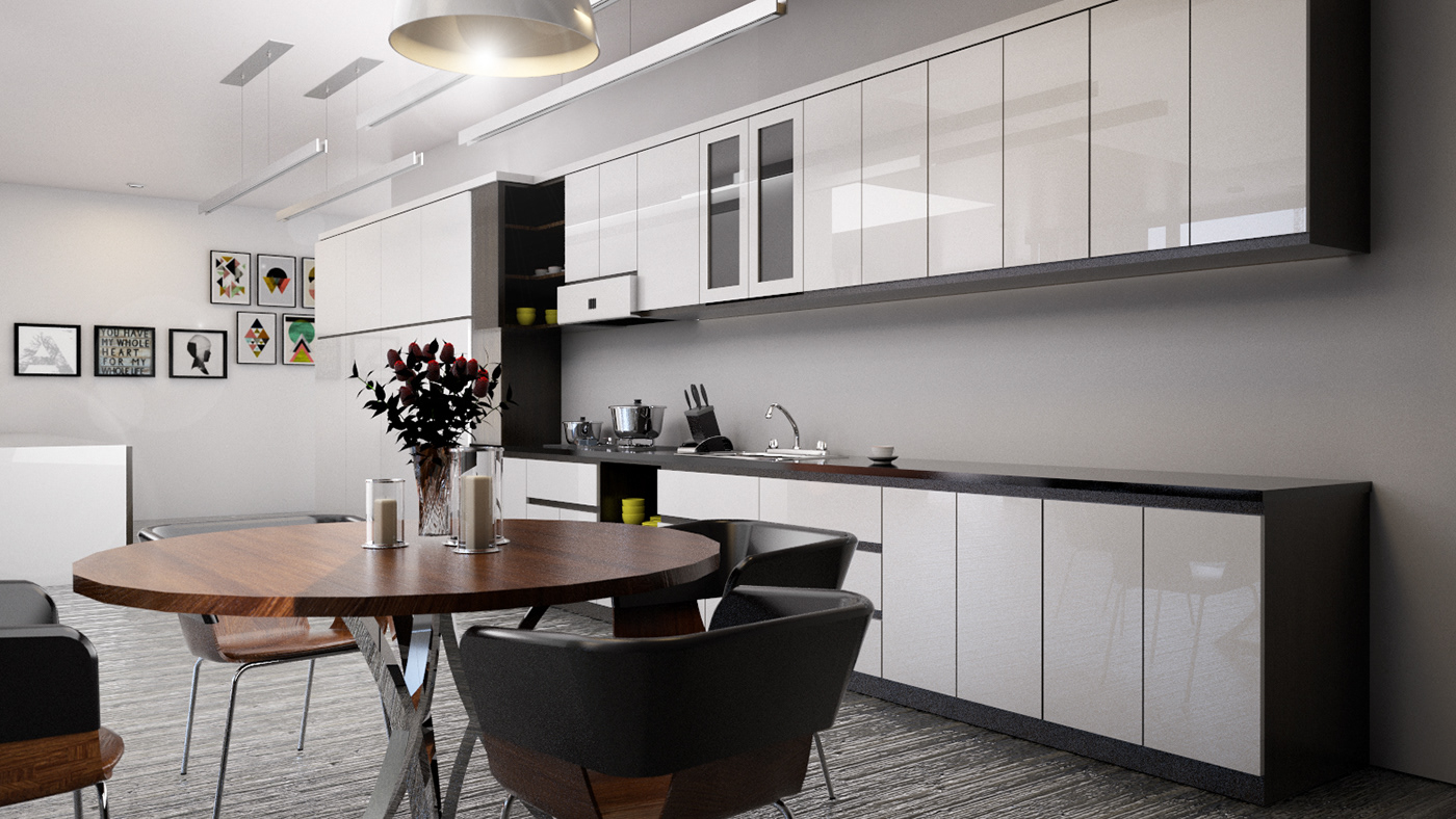 interior desing kitchen vray for sketchup pro 17 on behance