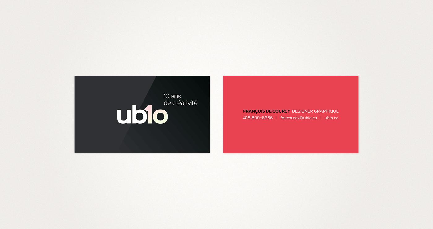 Business card with rainbow foiled