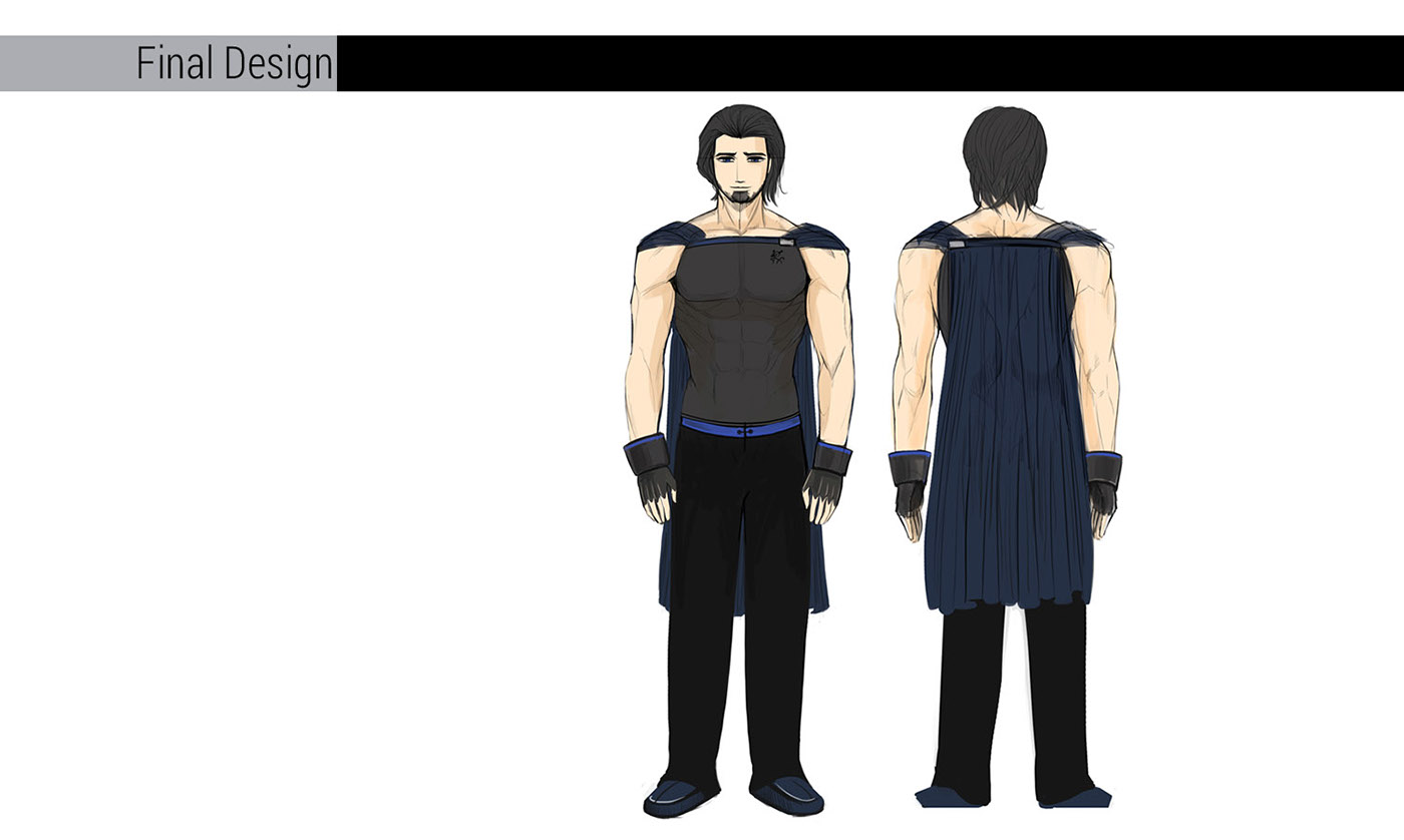 anime Character boy man design costume centurian knight handsome manga visual novel bautista auferre legend of A Long Journey