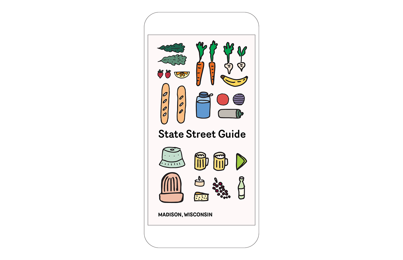 brochures state street illustrations Madison healthy Hats date night brochure design
