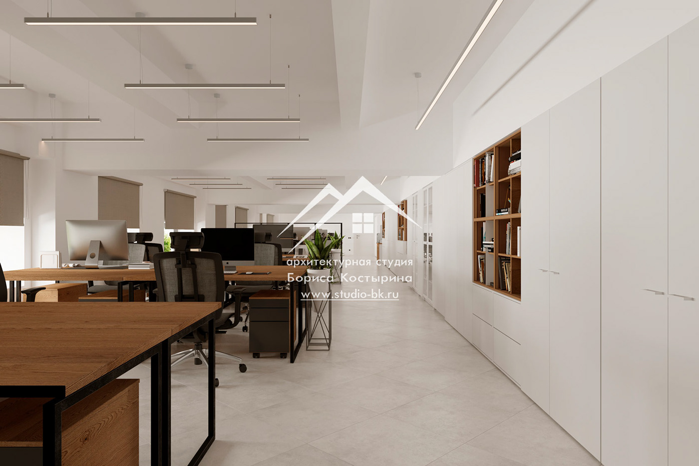 дизайн-проект офиса интерьер офиса  офис в современном стиле