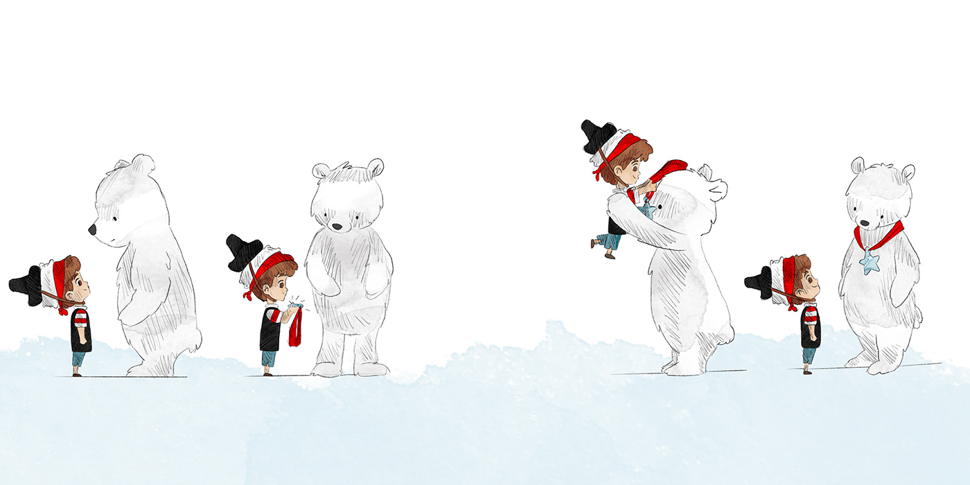Image may contain: cartoon, skiing and snow
