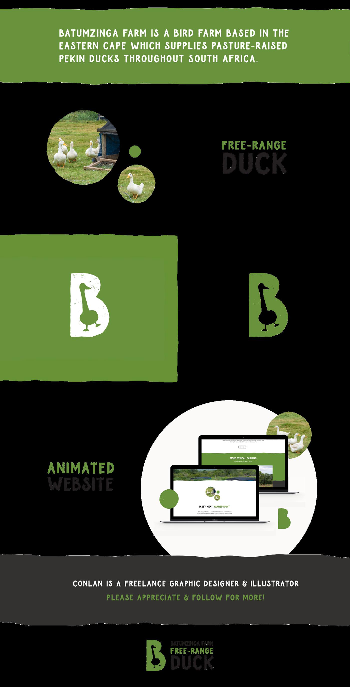 farm Playful visual language logo branding  green animals Batumzinga rustic informal