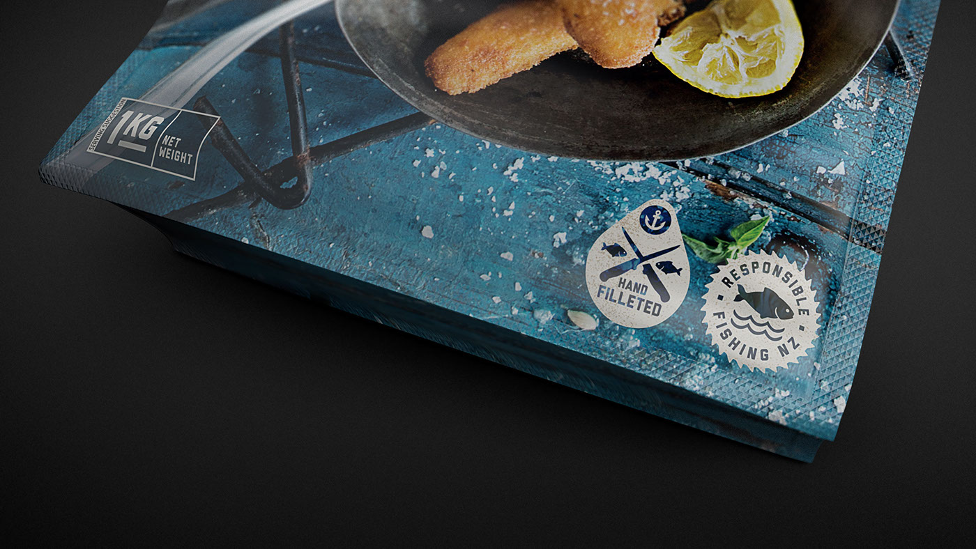 identity Rebrand Packaging sea food design food photography