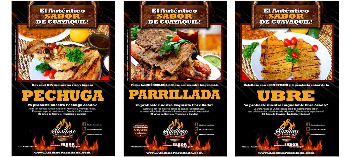 grill BBQ logo folleto brochure menu Ecuador guayaquil Tradició Traditional Food