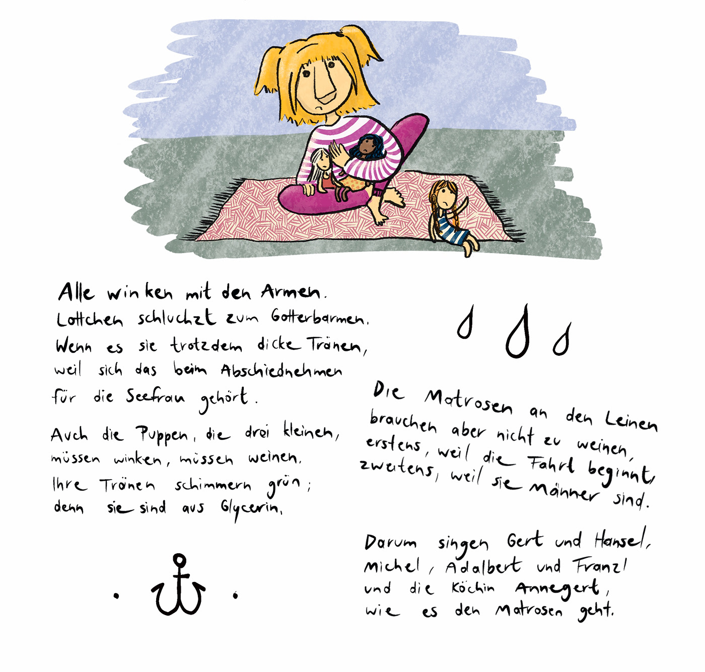 Image may contain: cartoon, illustration and handwriting