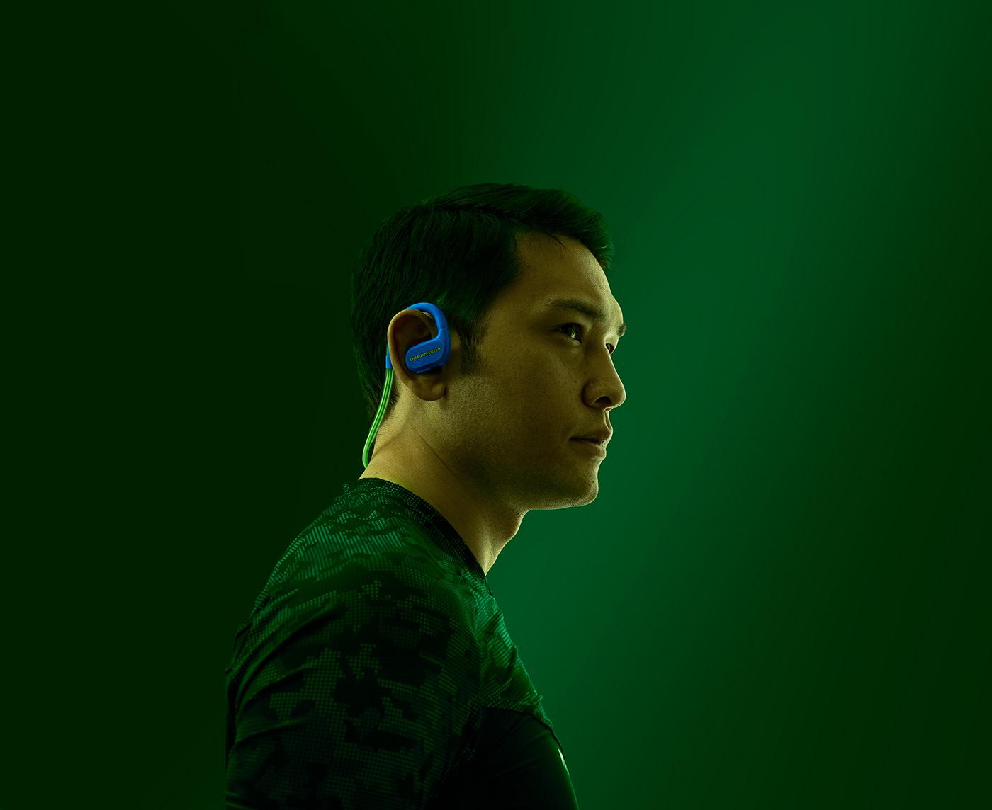 earphones sport photo color product photoshop capture one model light