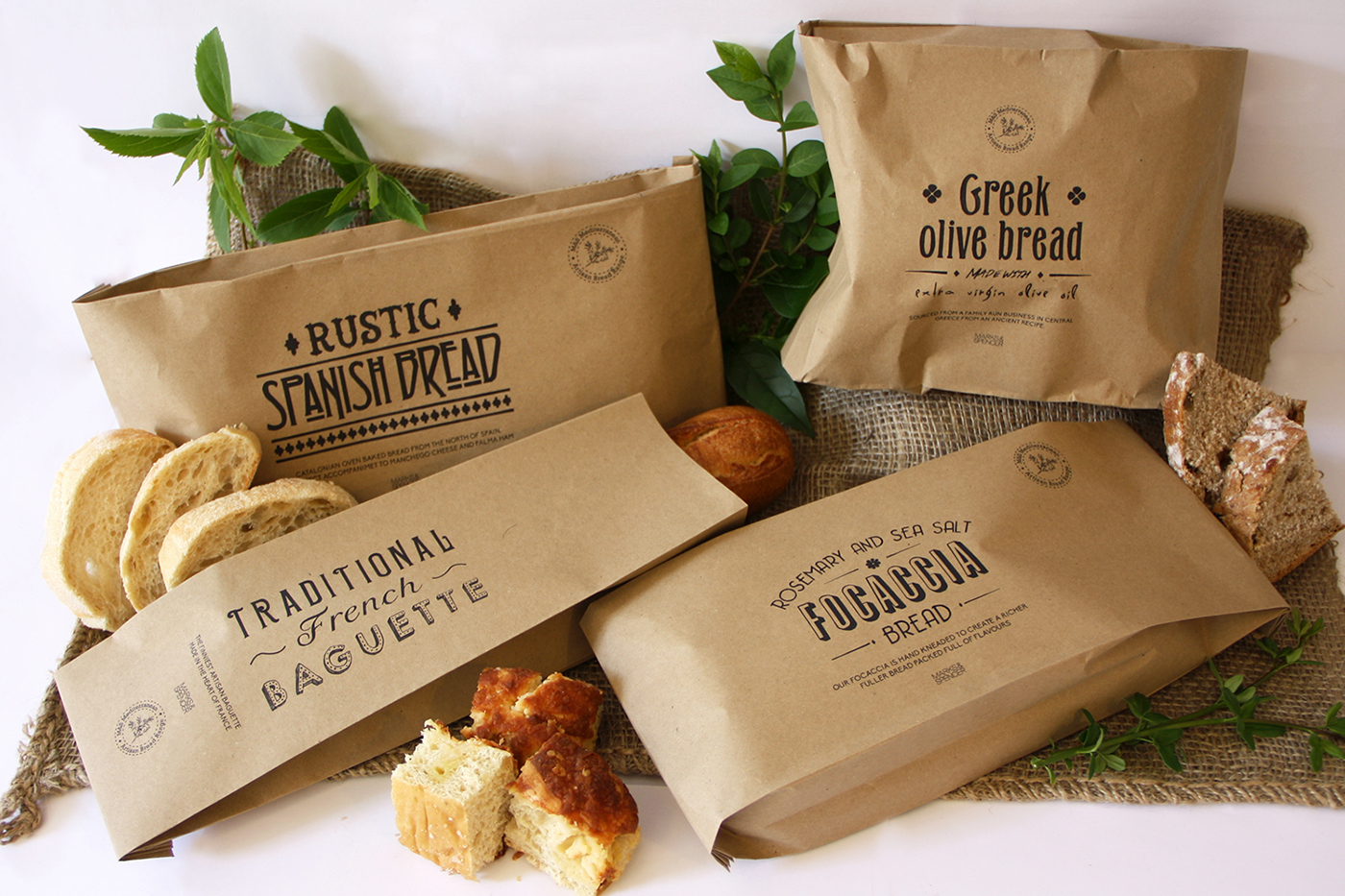 M Amp S Bread Packaging On Behance
