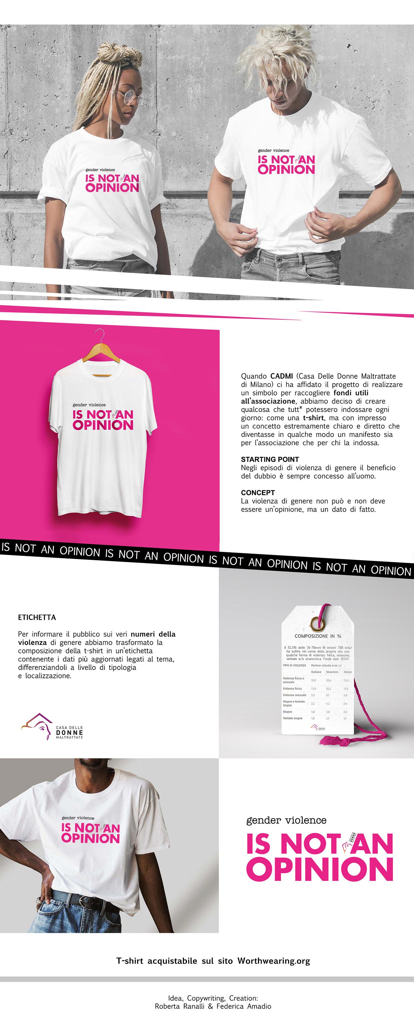cadmi concept copywriting  design gender violence idea product t-shirt women