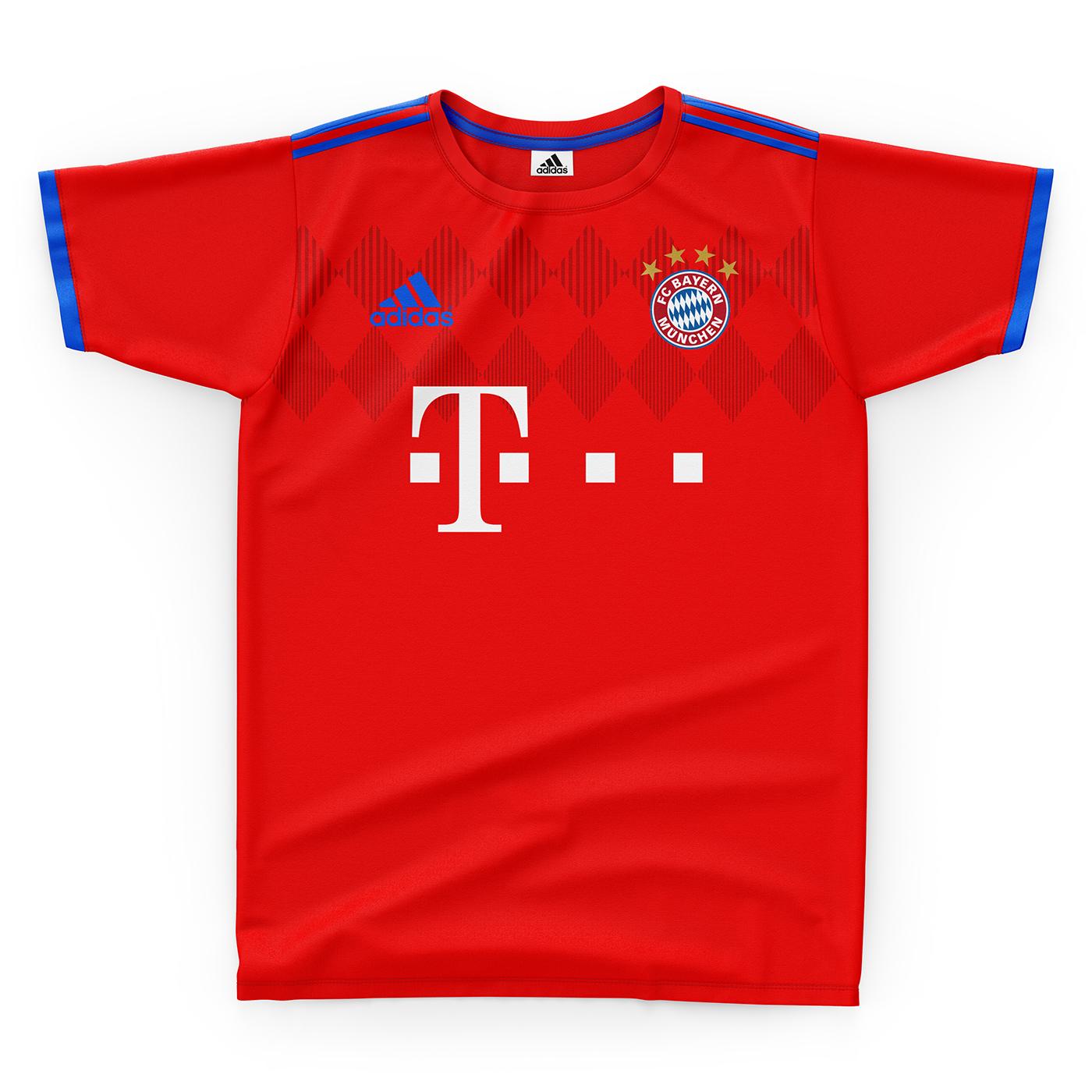 Fc Bayern Munchen Football Kit 18/19  on Behance