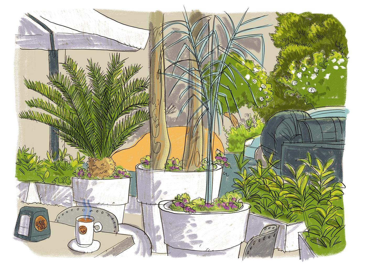 ILLUSTRATION  illustrator freelance dessin sketch urban sketchers graphic design