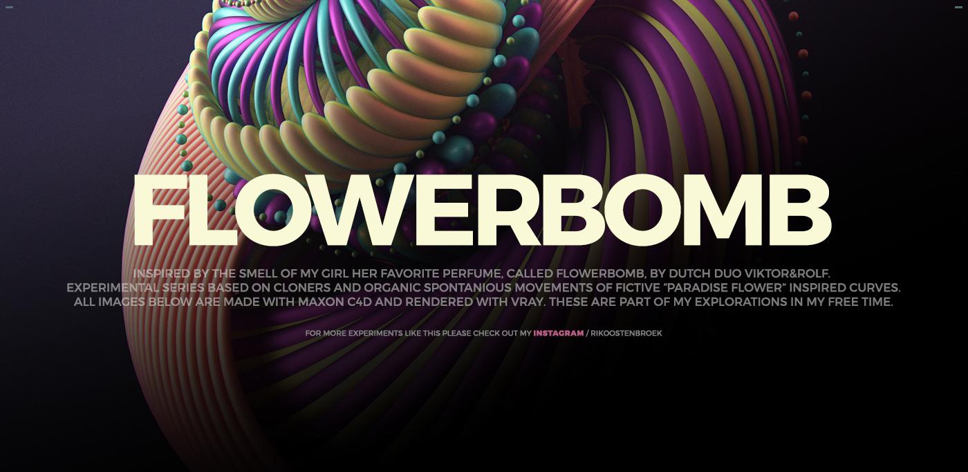 design 3D neon gradients c4d styleframes flowerpower flower Flora icecream grenade Love valentine Flowers MakeItNYC